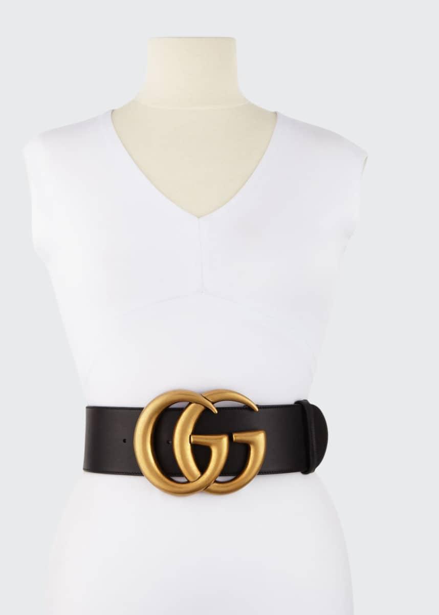 Gucci Adjustable GG Belt, Black