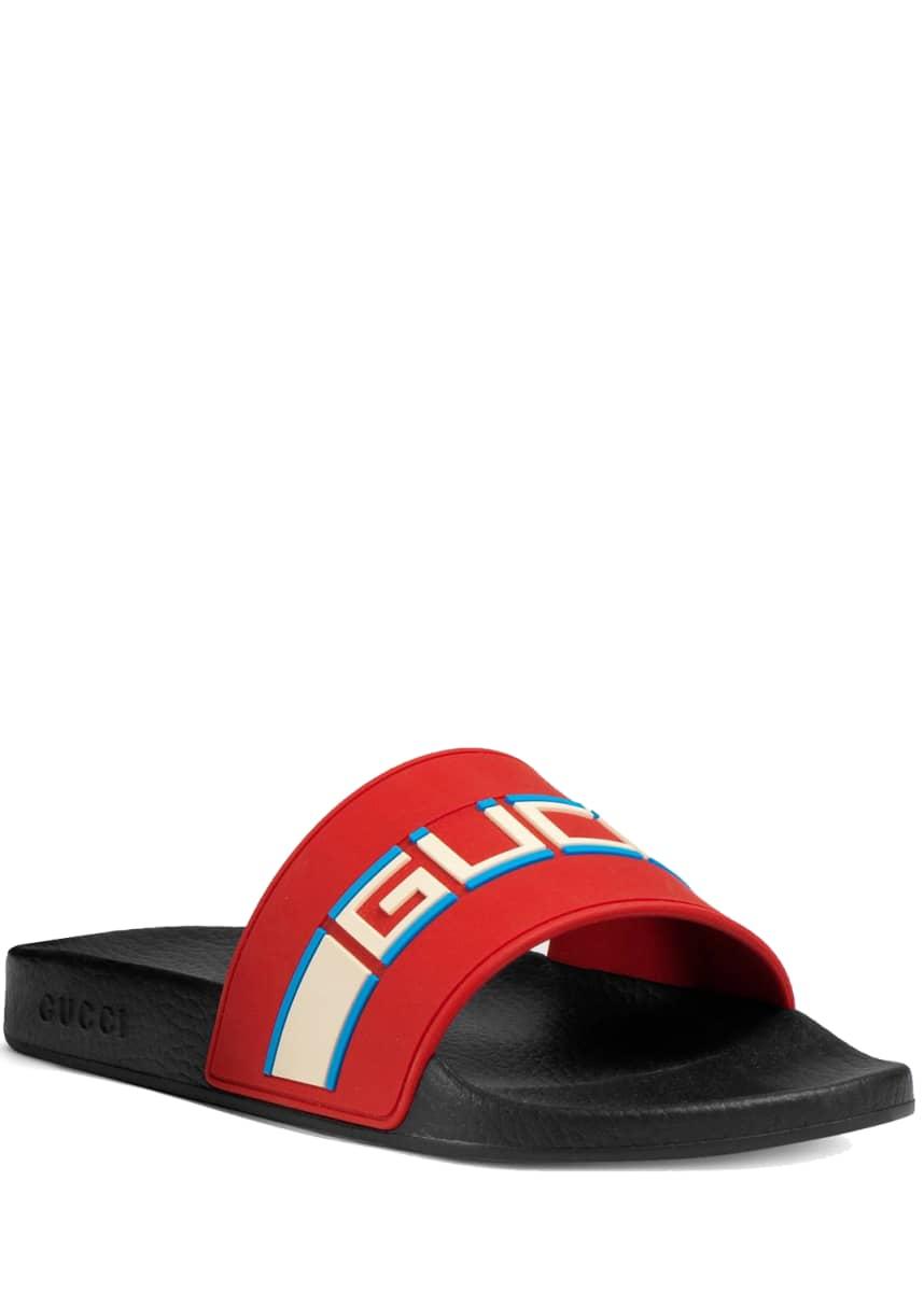 Gucci Gucci Stripe Rubber Slide Sandal