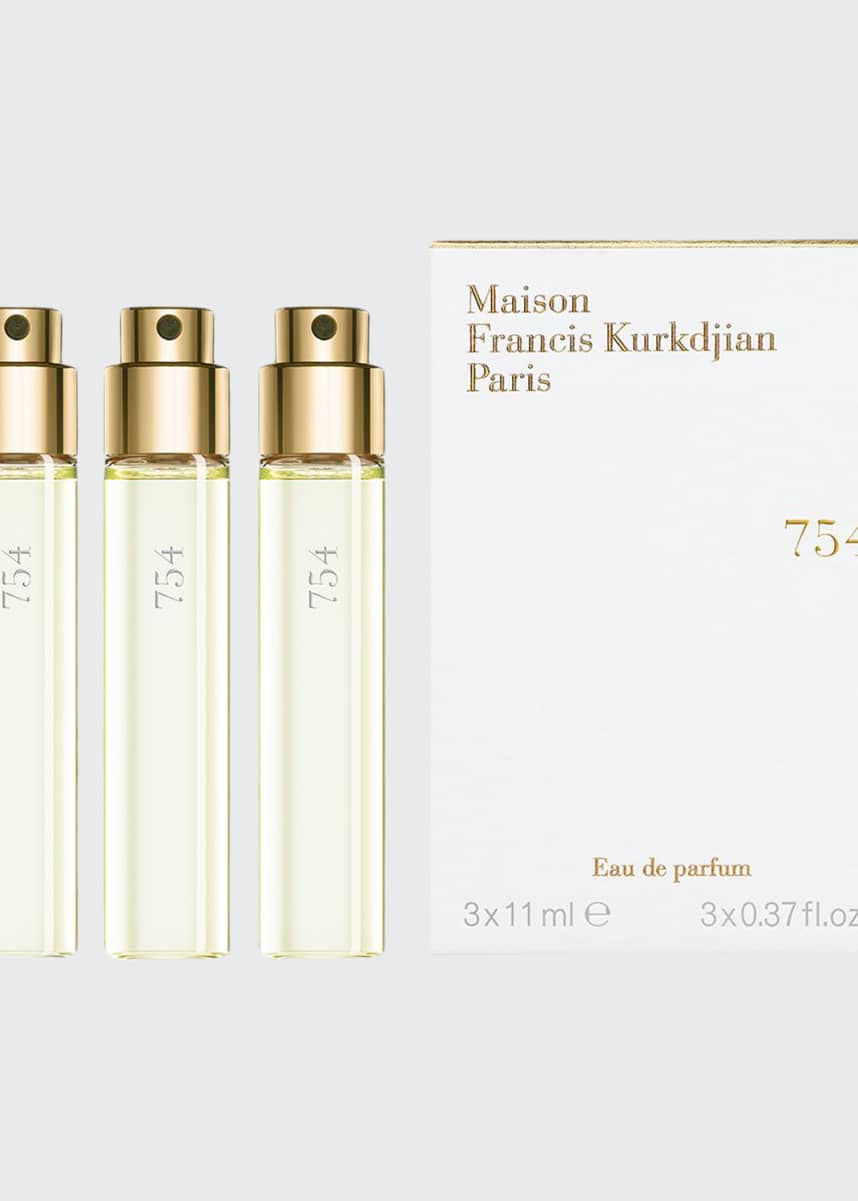 Maison Francis Kurkdjian 754 Eau de Parfum, Travel Refills, 3 each 0.37 fl. oz.