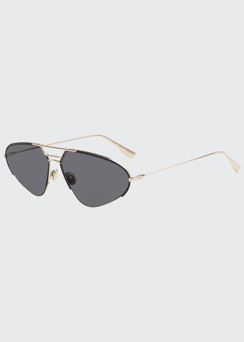 Dior DiorStellaire5 Oval Metal Sunglasses
