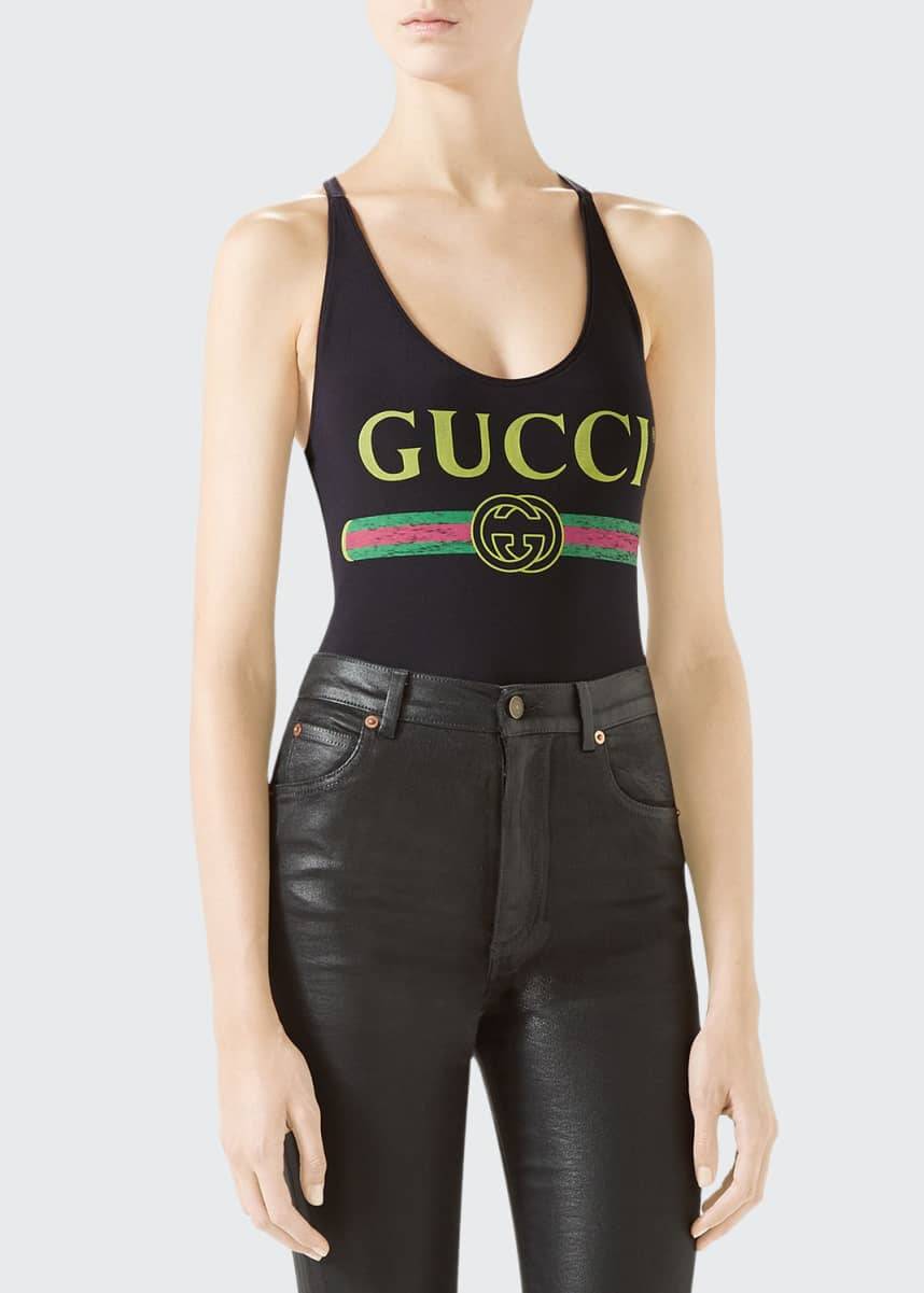 Gucci Gucci-Print Sparkling Lycra? Bodysuit
