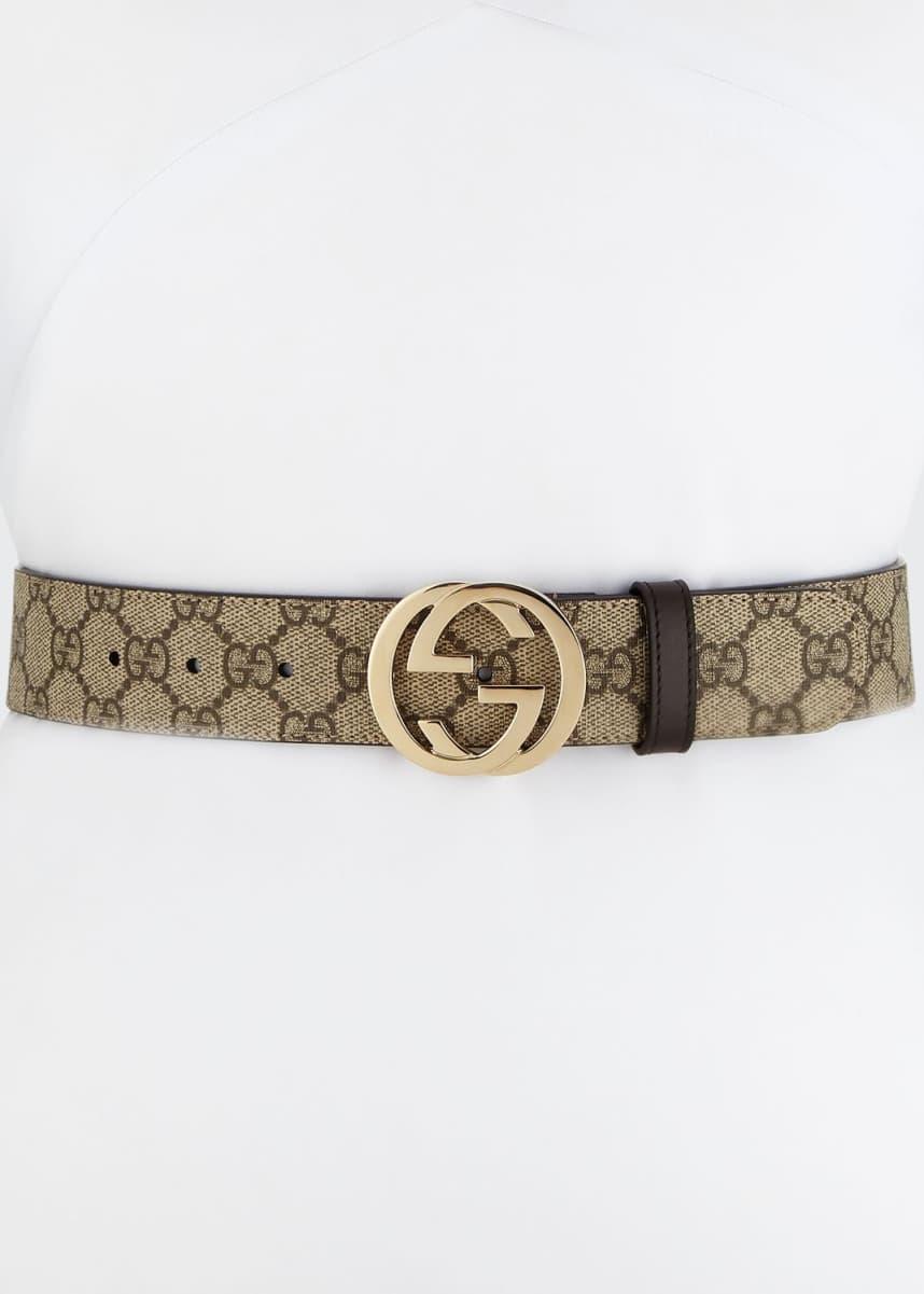 Gucci GG Supreme Canvas Belt w/ Interlocking G Buckle