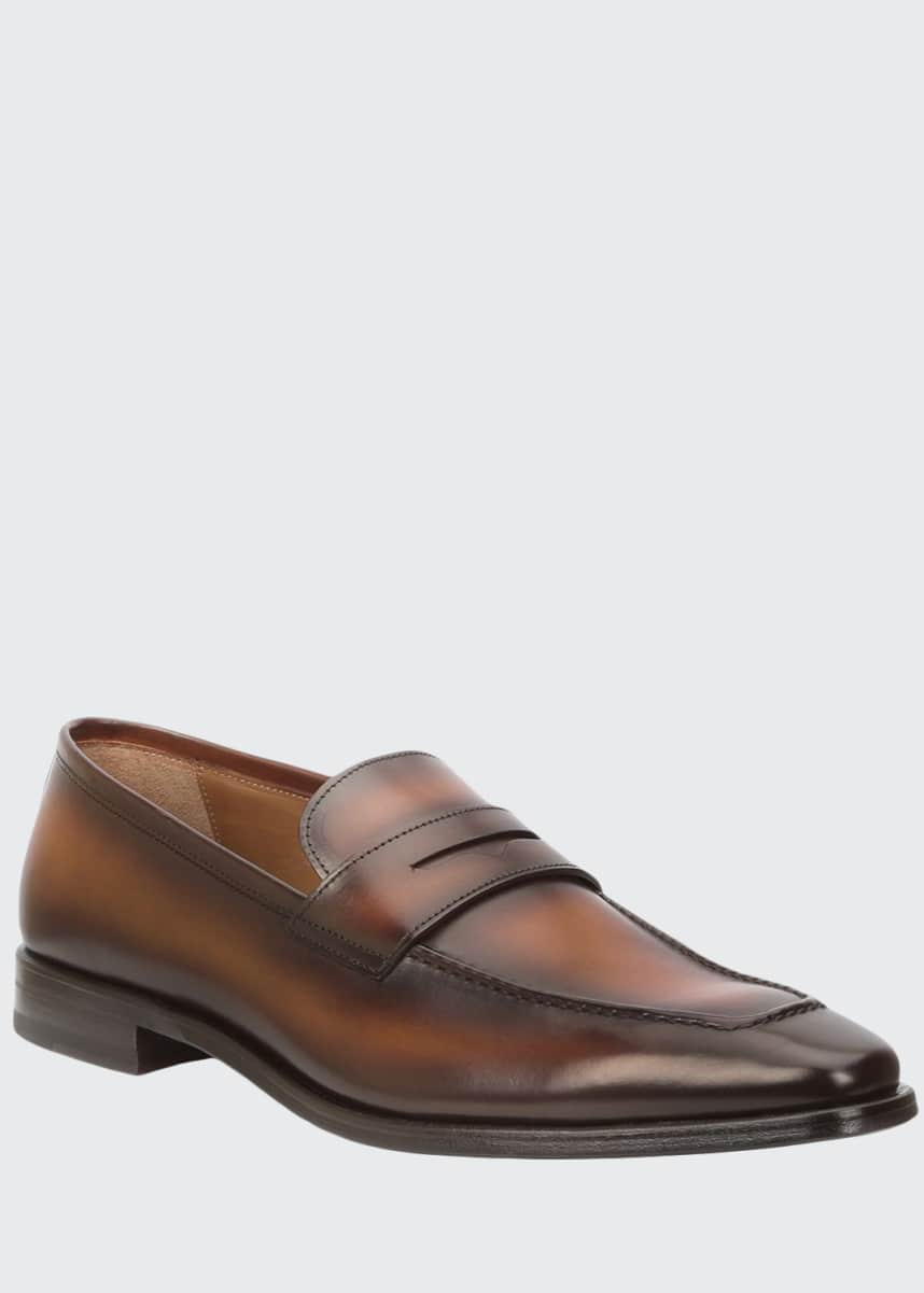Bruno Magli Men's Corrado Burnished Leather Penny Loafers