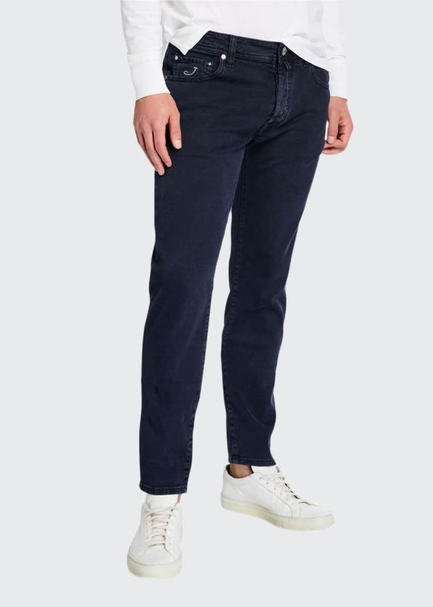 Jacob Cohen Men's Dark-Wash Tapered Jeans