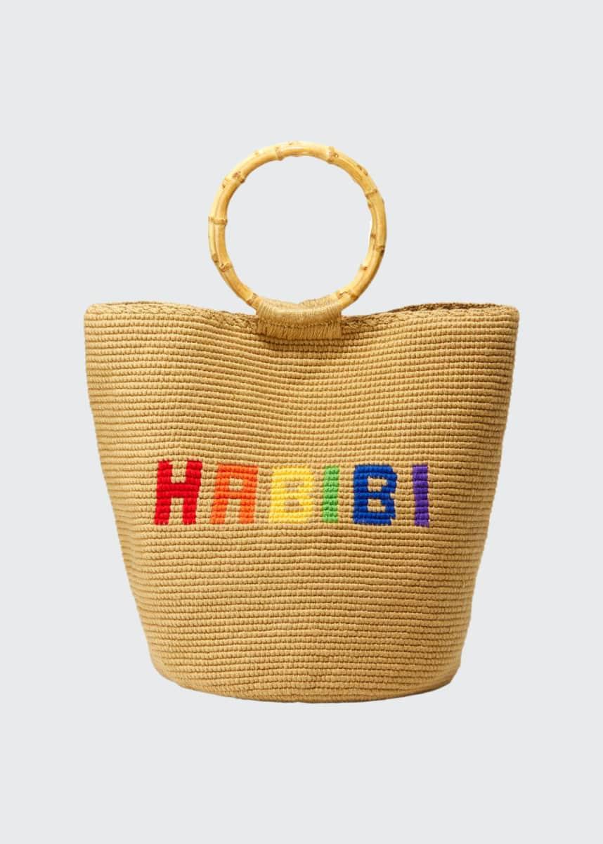 Soraya Hennessy Rainbow Habibi Ring-Handle Tote Bag