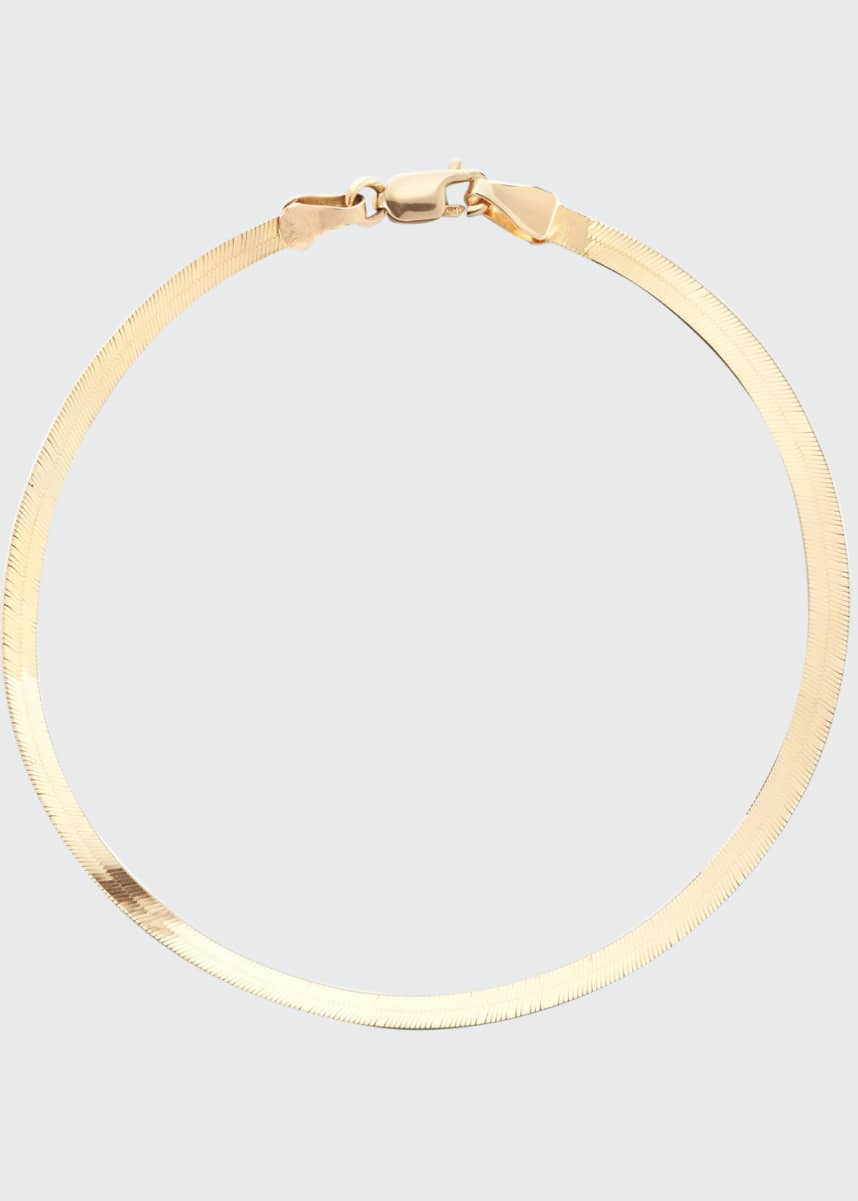 Lana 14k Gold Thin Herringbone Bracelet