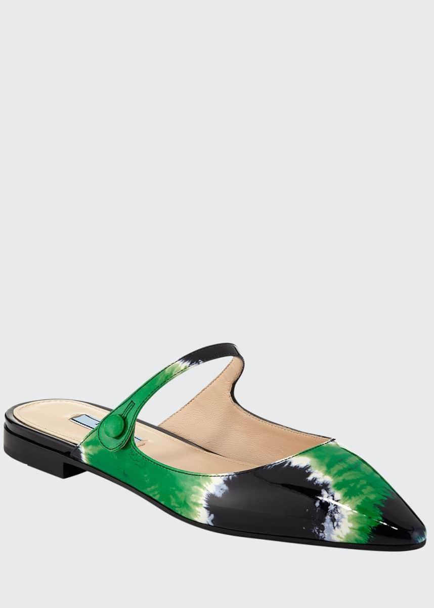 Prada Vernice Tie-Dye Mary Jane Mules