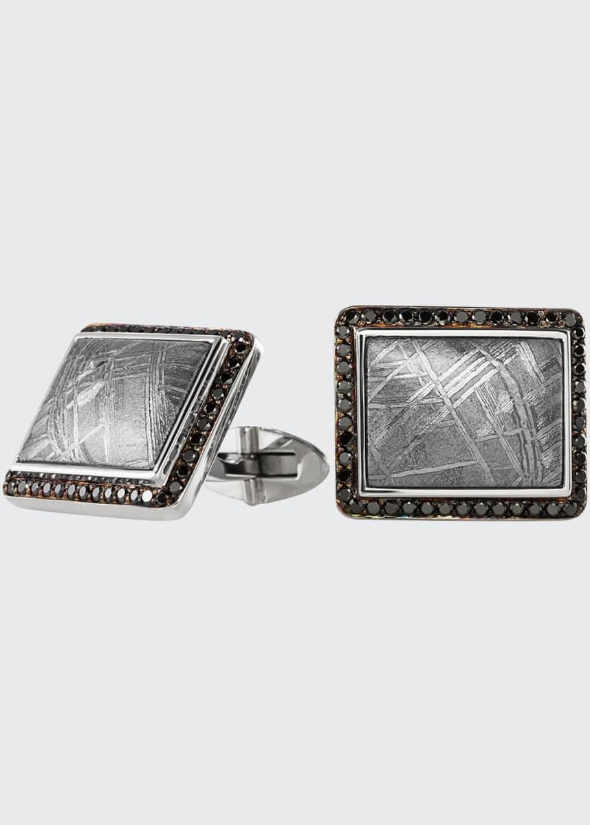 Jorge Adeler Authentic Muonionalusta Meteorite Cufflinks