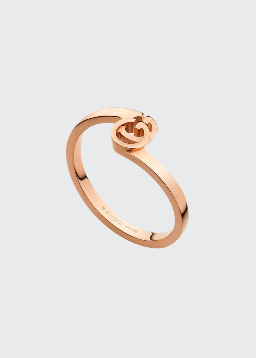 Gucci Running G Stacking Ring in 18K Rose Gold, Size 6.75