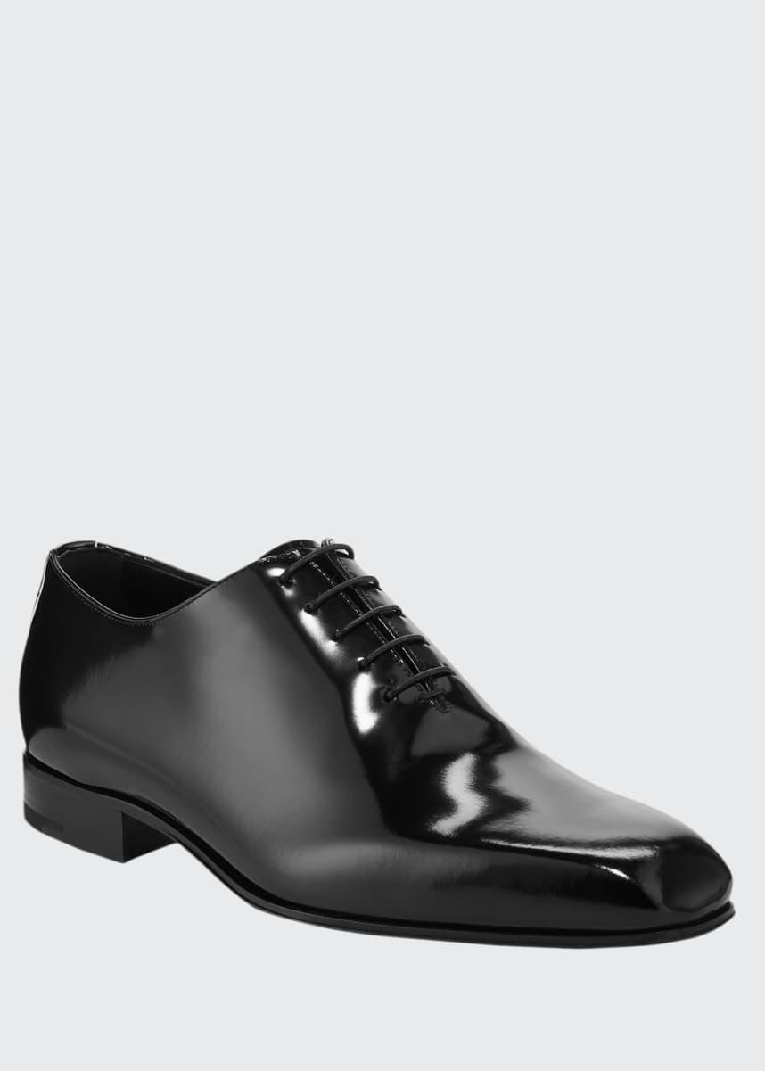 Ermenegildo Zegna Men's Monte Carlo Whole-Cut Spazzolato Leather Oxford Shoes