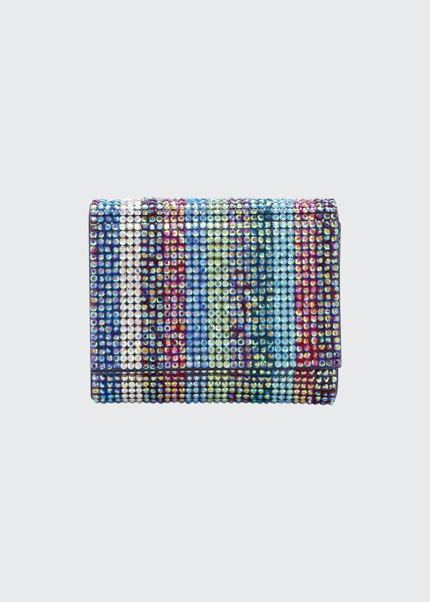 Judith Leiber Couture Fizzy Fullbead Multicolored Crystal Clutch Bag