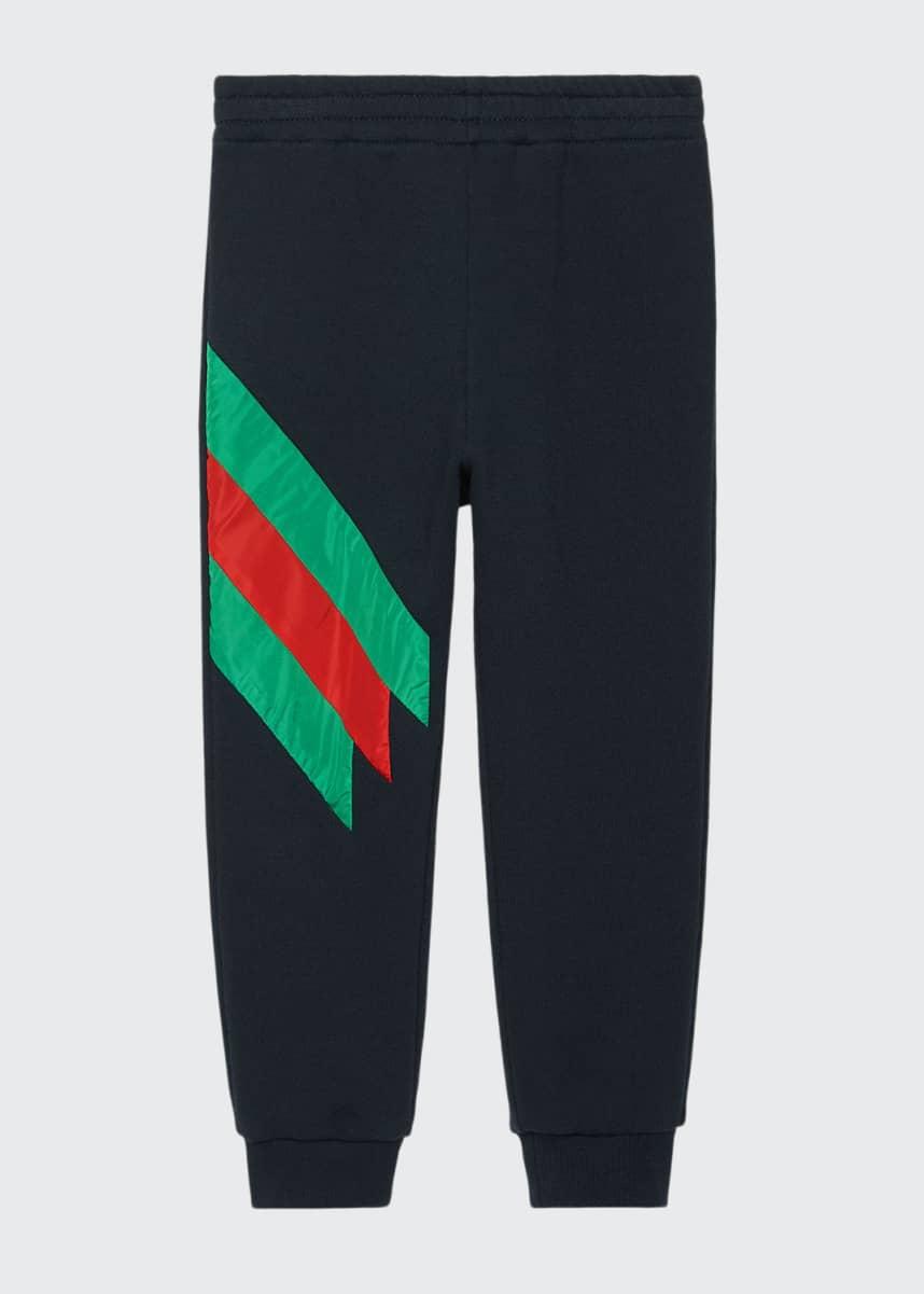 Gucci Jogging Pants w/ Stripe Trim, Size 4-12
