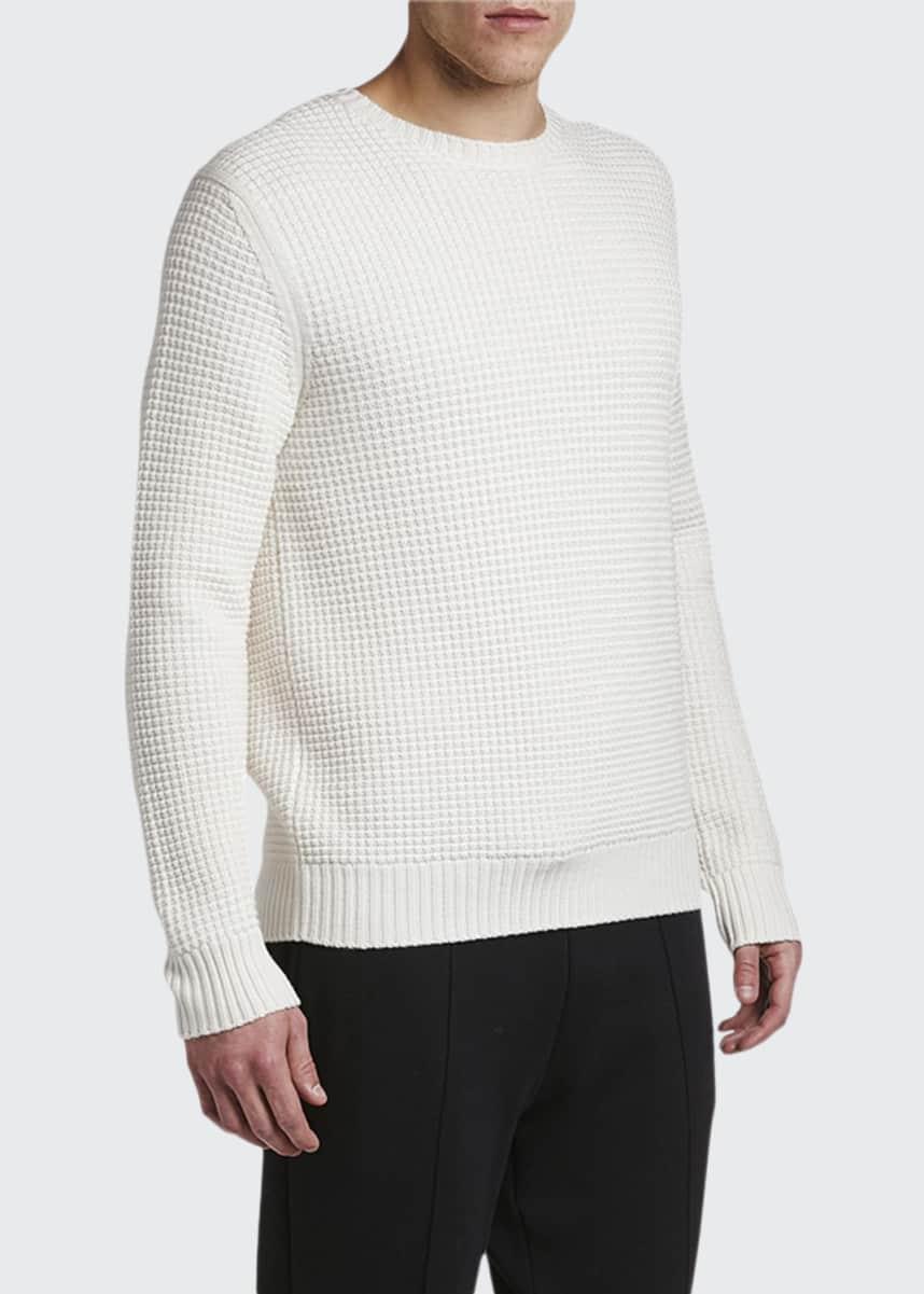 Moncler Men's Waffle-Knit Wool Sweater