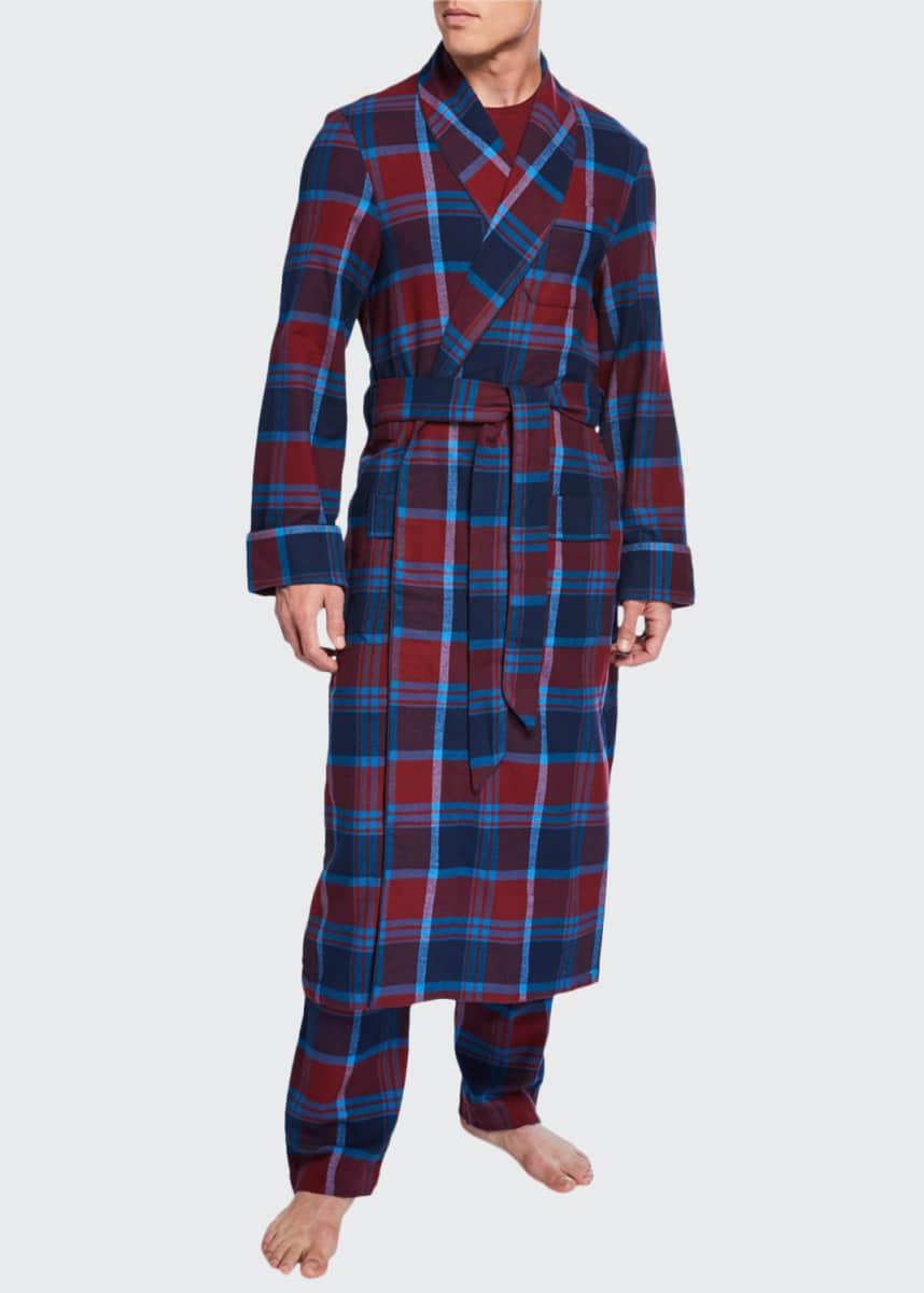 Derek Rose Men's Kelburn 7 Plaid Robe