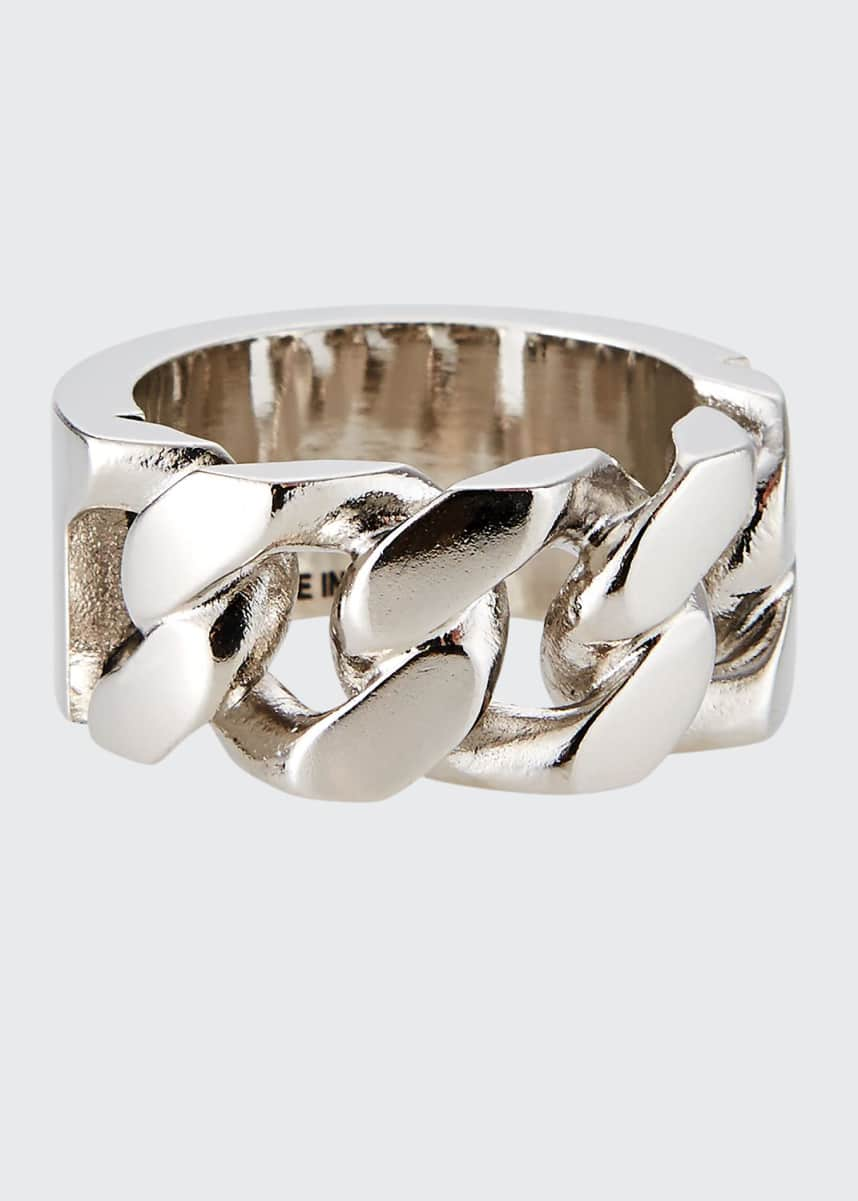 Alexander McQueen Men's Identity Chain Ring
