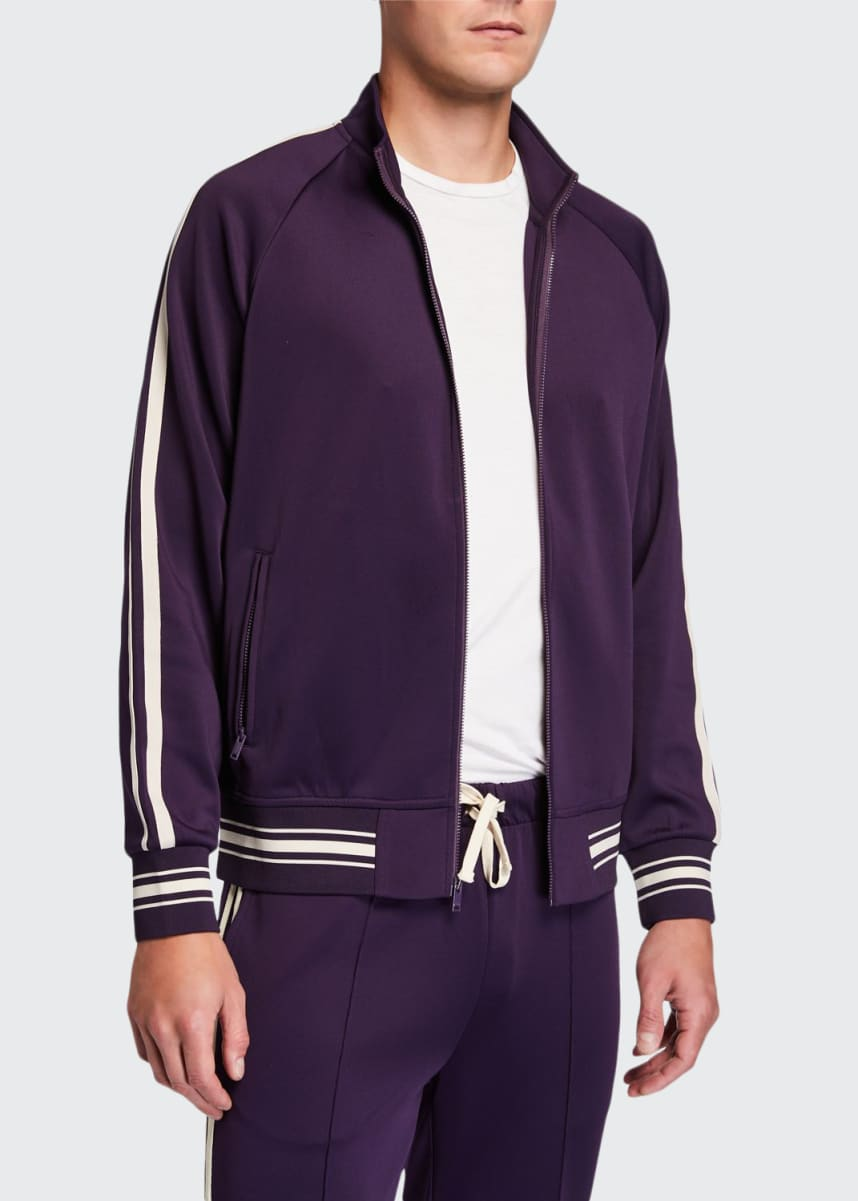Ovadia Men's Ball Side-Stripe Track Jacket