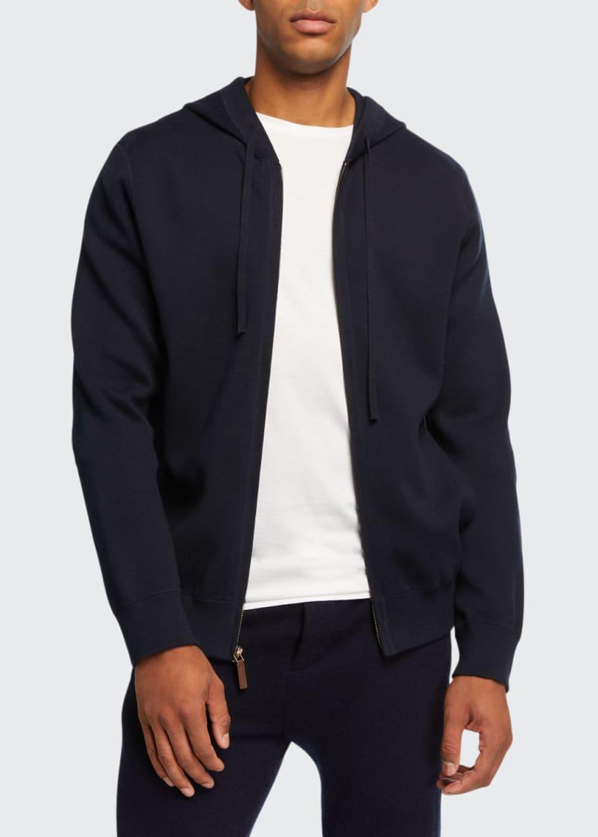 Vince Men's Cotton Zip-Front Hoodie