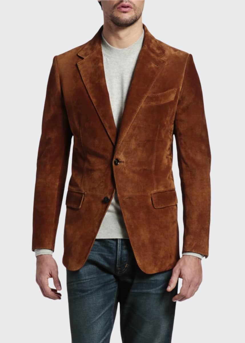 TOM FORD Men's Suede Blazer Jacket