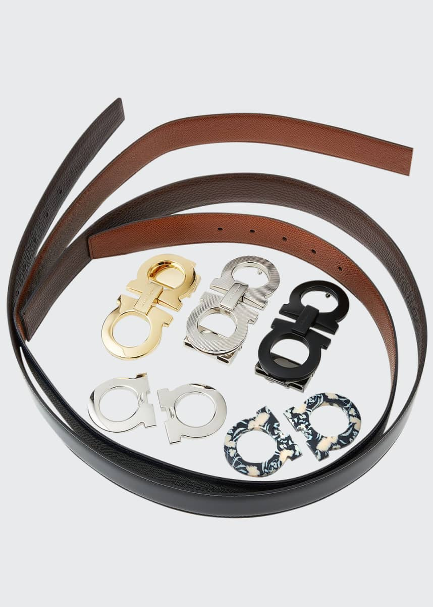Salvatore Ferragamo Men's Gancini Switch Seven-Piece Belt & Buckle Box Gift Set