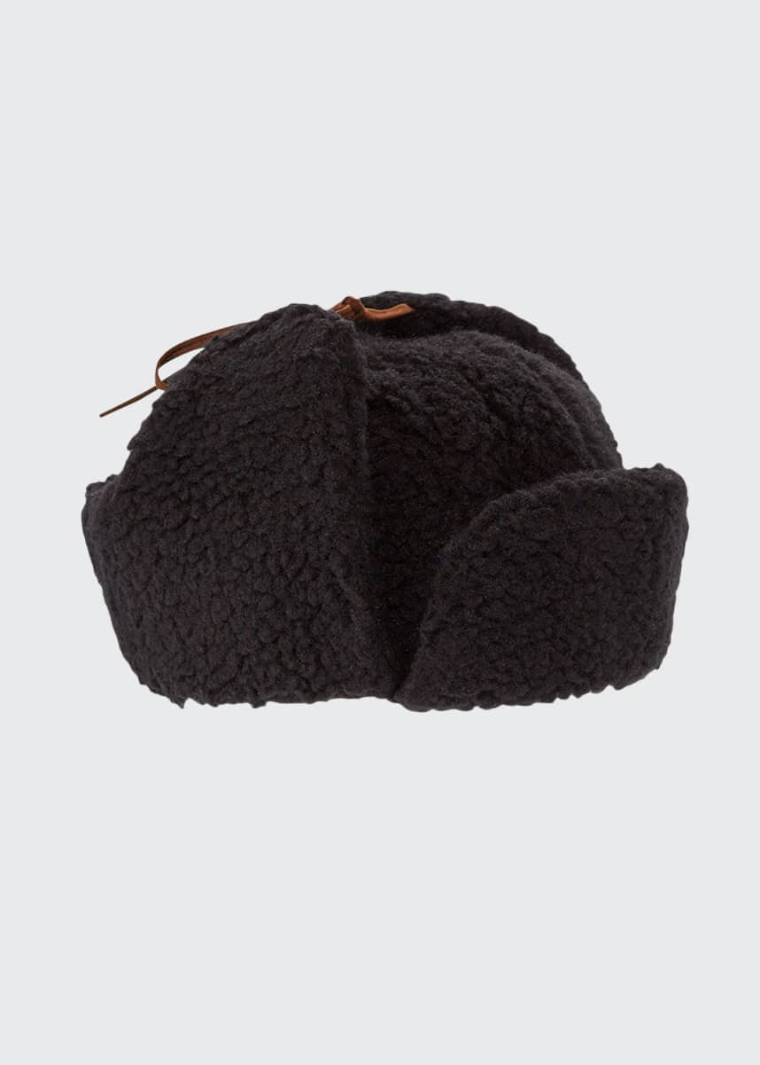 Cableami Men's Boa Sherpa Aviator Hat