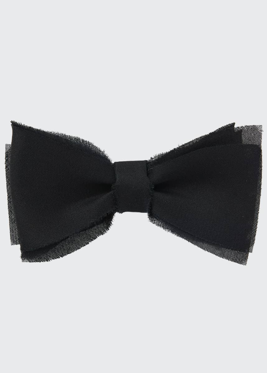 Title of Work Men's Layered Raw-Edge Bow Tie