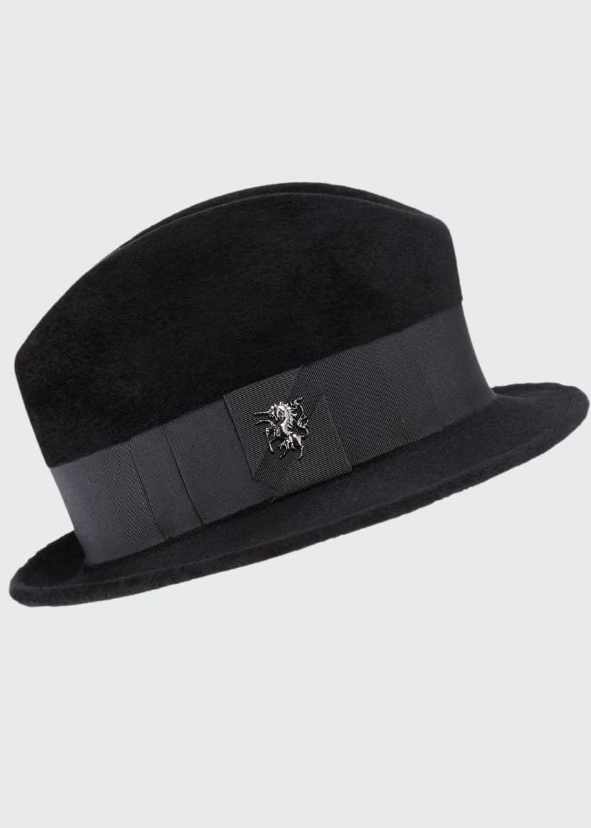 Philip Treacy Wool Felt Velour Town Hat