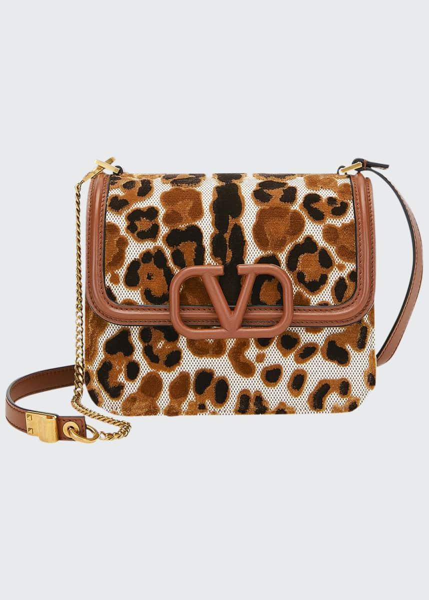 Valentino Garavani VSLING Small Leopard Shoulder Bag