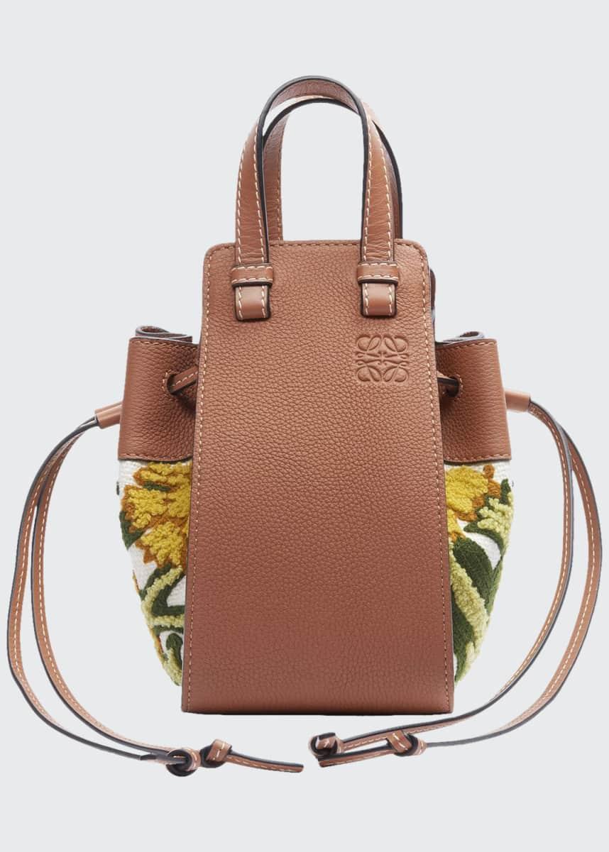 Loewe Hammock Floral Small Shoulder Bag