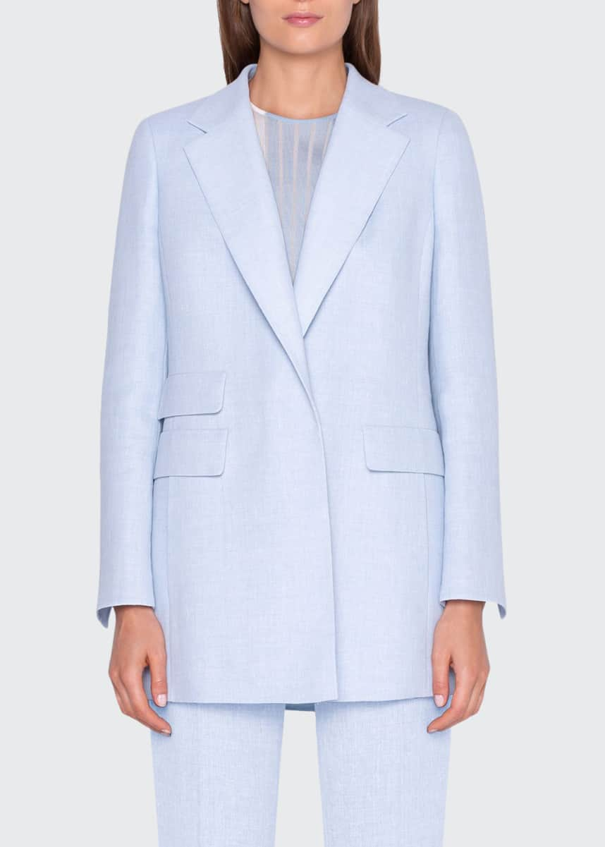 Akris Linen-Wool Jacket