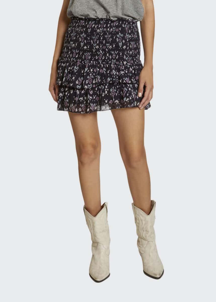 Etoile Isabel Marant Frinley Printed Flounce Skirt