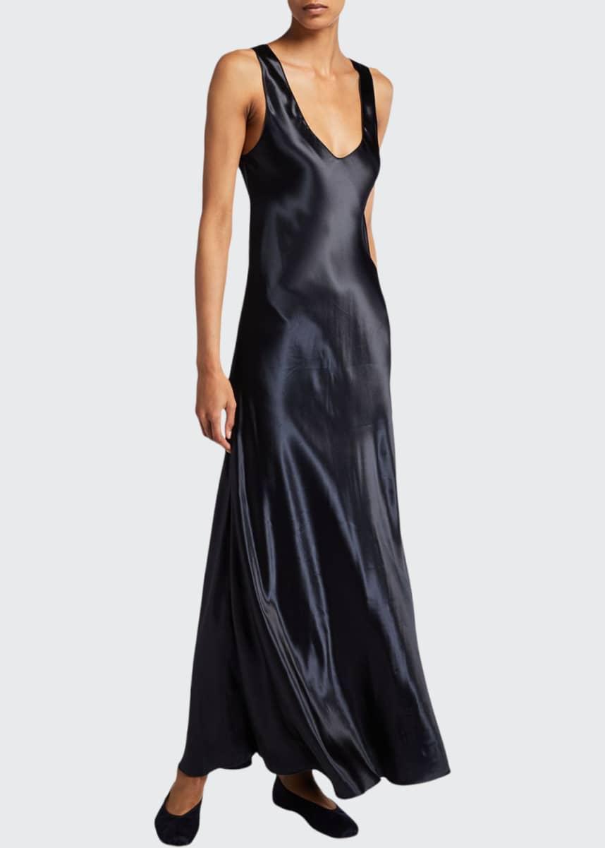 THE ROW Natasha Shiny Satin Dress
