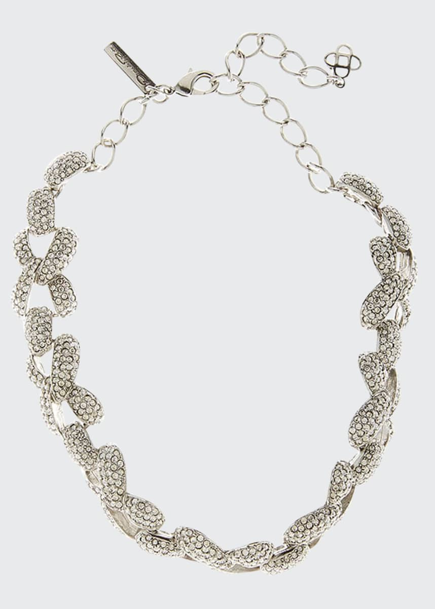 Oscar de la Renta Pave Chain-Link Necklace