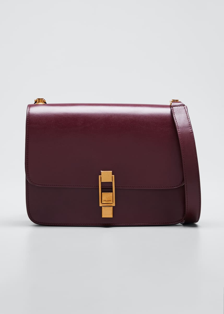 Saint Laurent Carre Medium Calf Leather Crossbody Bag
