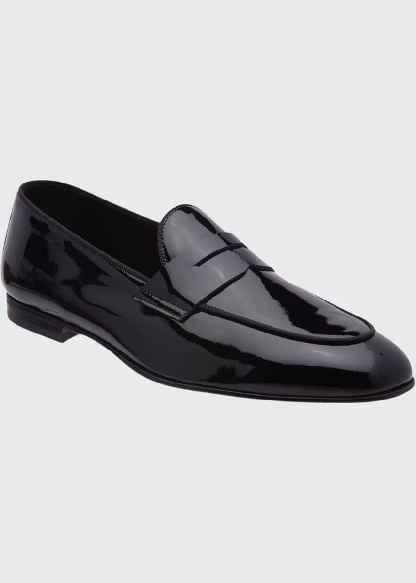 Bruno Magli Men's Cardoza Patent Leather Penny Loafers