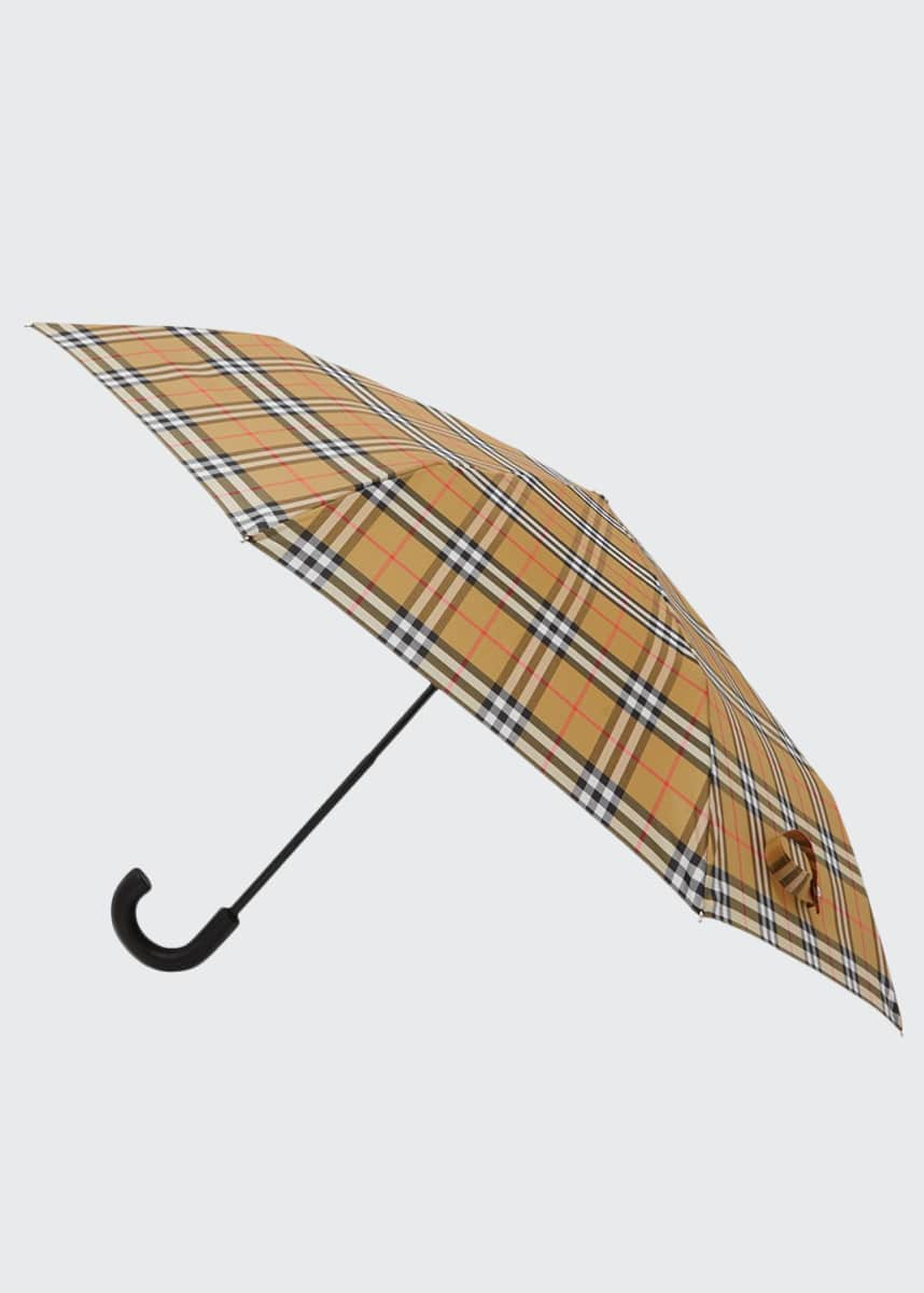 Burberry Trafalgar Check Foldable Umbrella