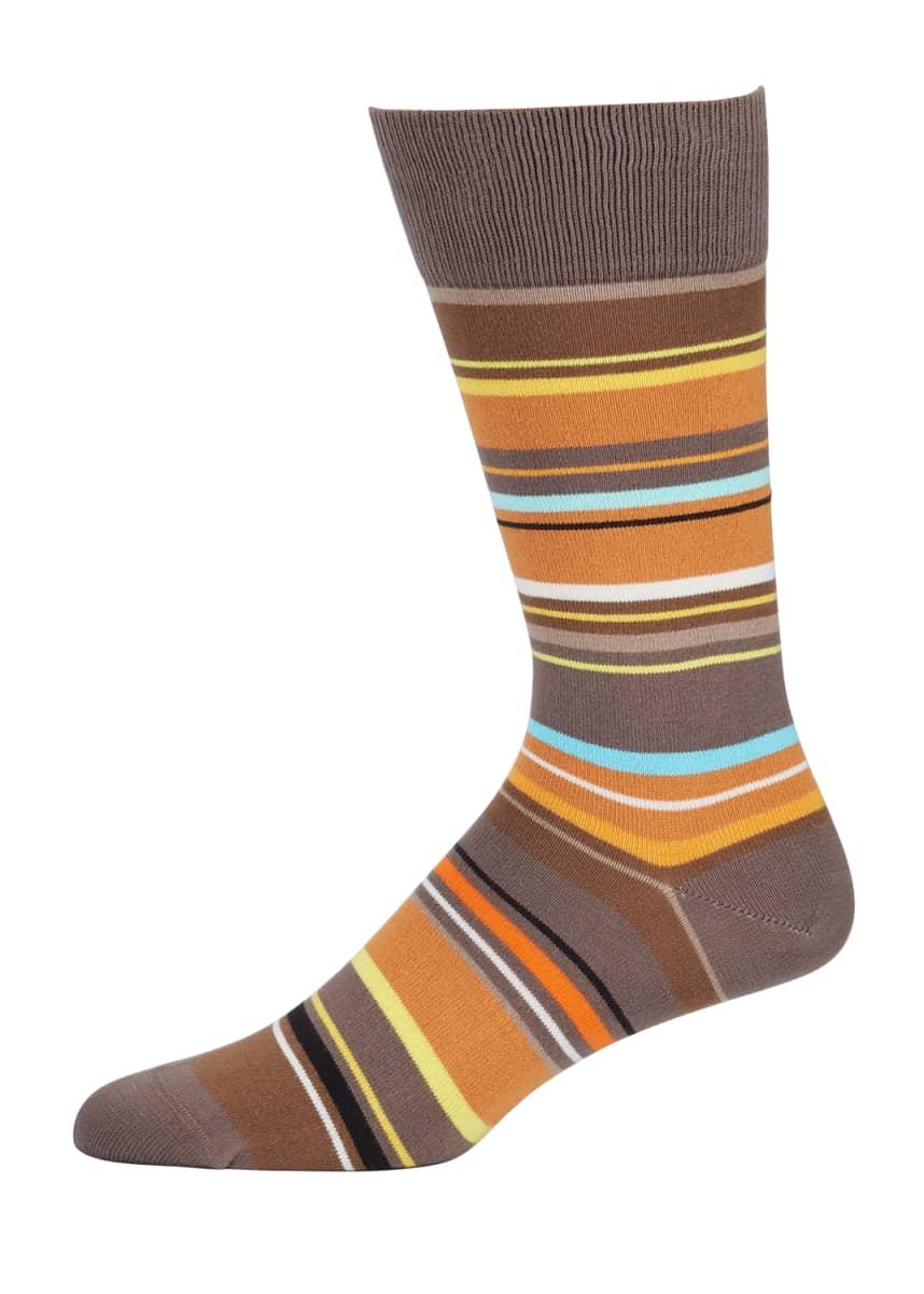 Paul Smith Men's Adam Striped Socks