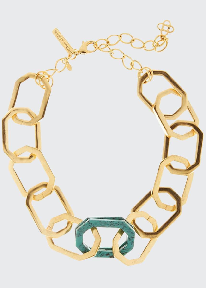 Oscar de la Renta Octagonal Link Necklace