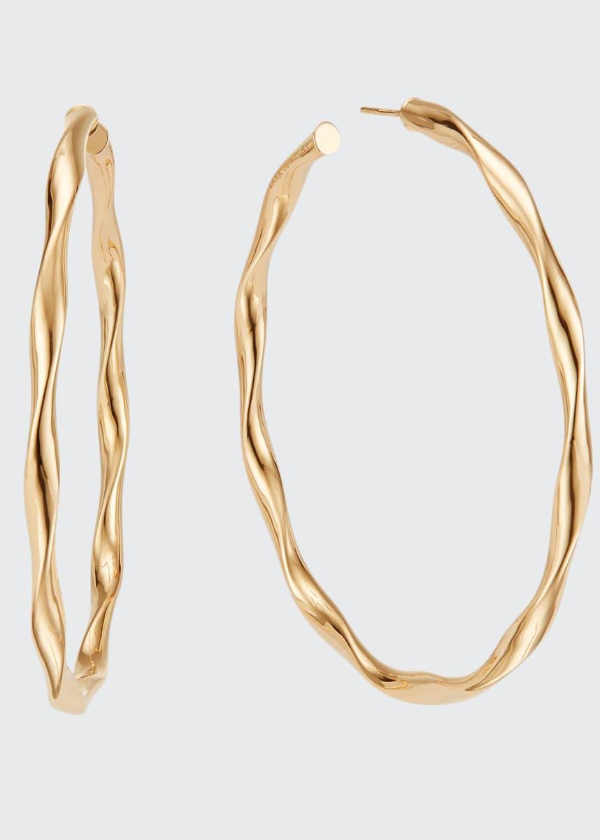 Lana 14k Wide Wave Twist Hoop Earrings, 70mm