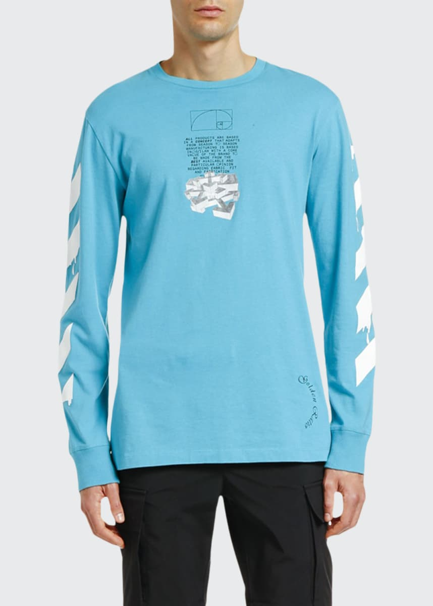 Off-White Men's Dripping Arrows Graphic Long-Sleeve T-Shirt