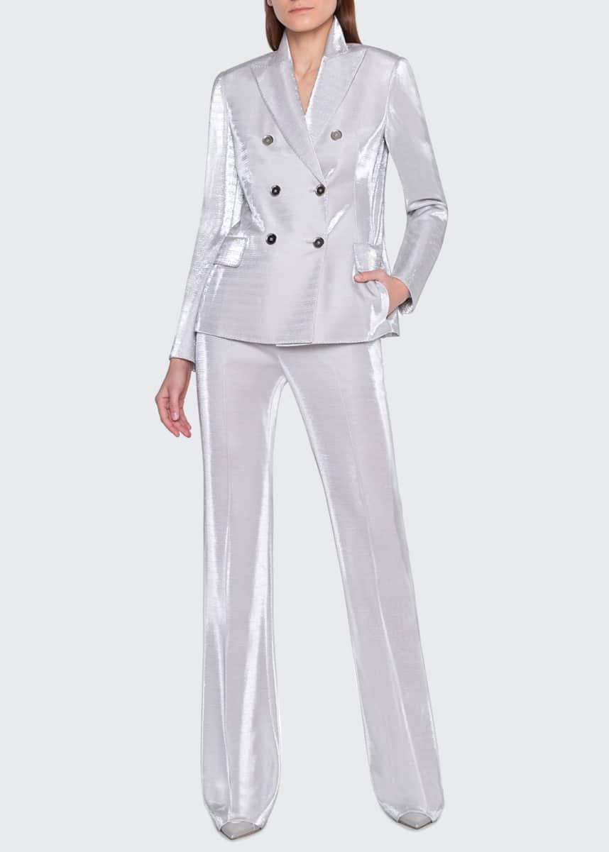 Akris Farida Shimmer Jersey Pants