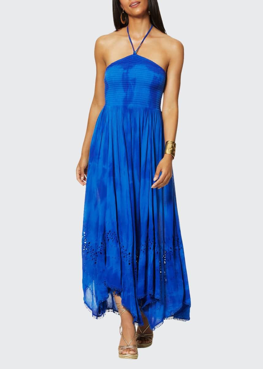Ramy Brook Martina Tie-Dye Halter Coverup Dress