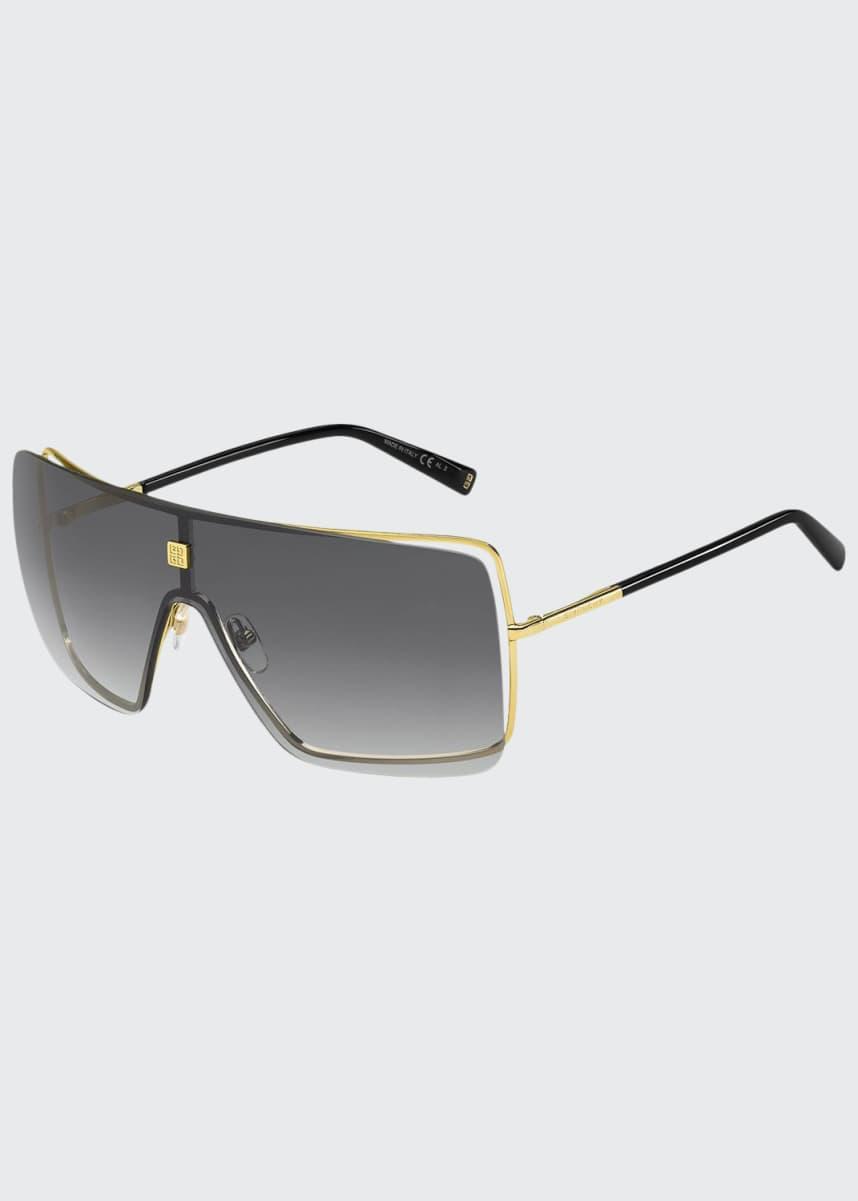 Givenchy Semi-Rimless Shield Sunglasses