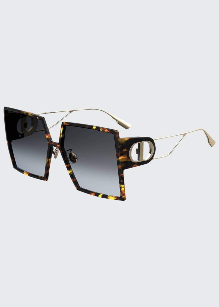 Dior 30Montaigne Square Sunglasses w/ Cutout Arms