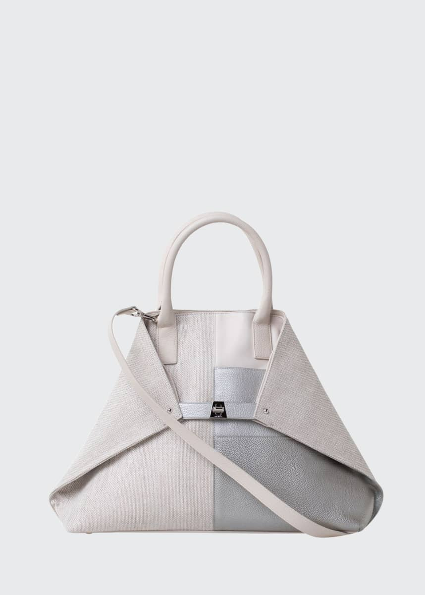 Akris Ai Medium Patchwork Shoulder Tote Bag