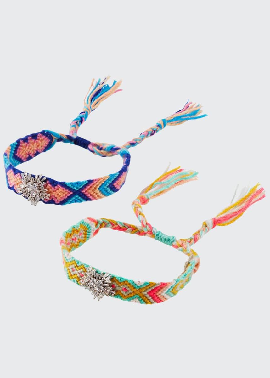Fallon Pull-Cord Friendship Bracelets, Set of 2, Pastel