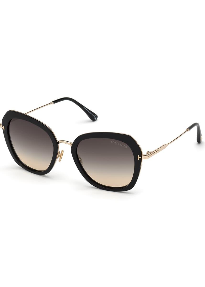 TOM FORD Kenyan Square Metal Sunglasses