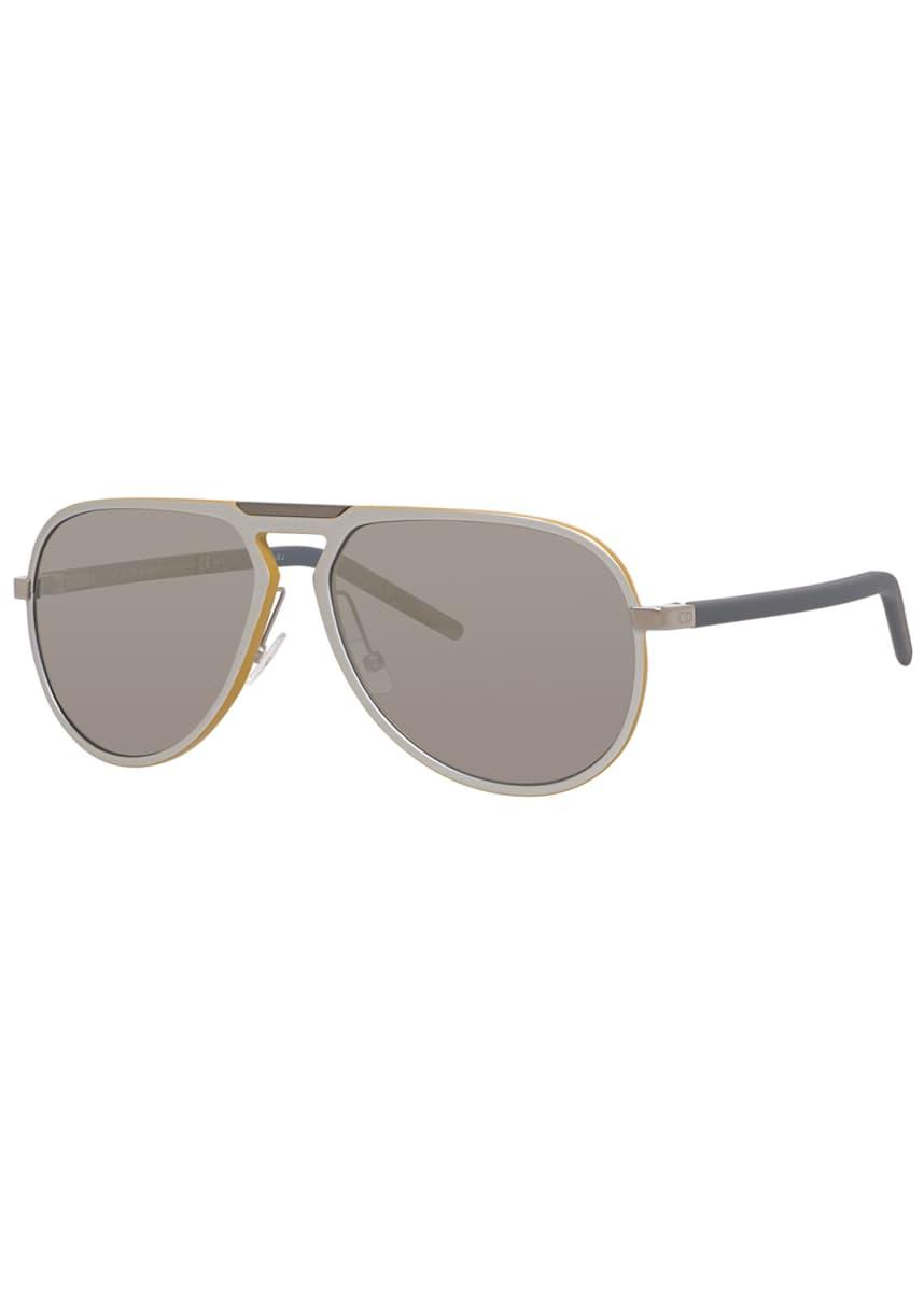 Dior Men's Aluminum Aviator Keyhole Sunglasses