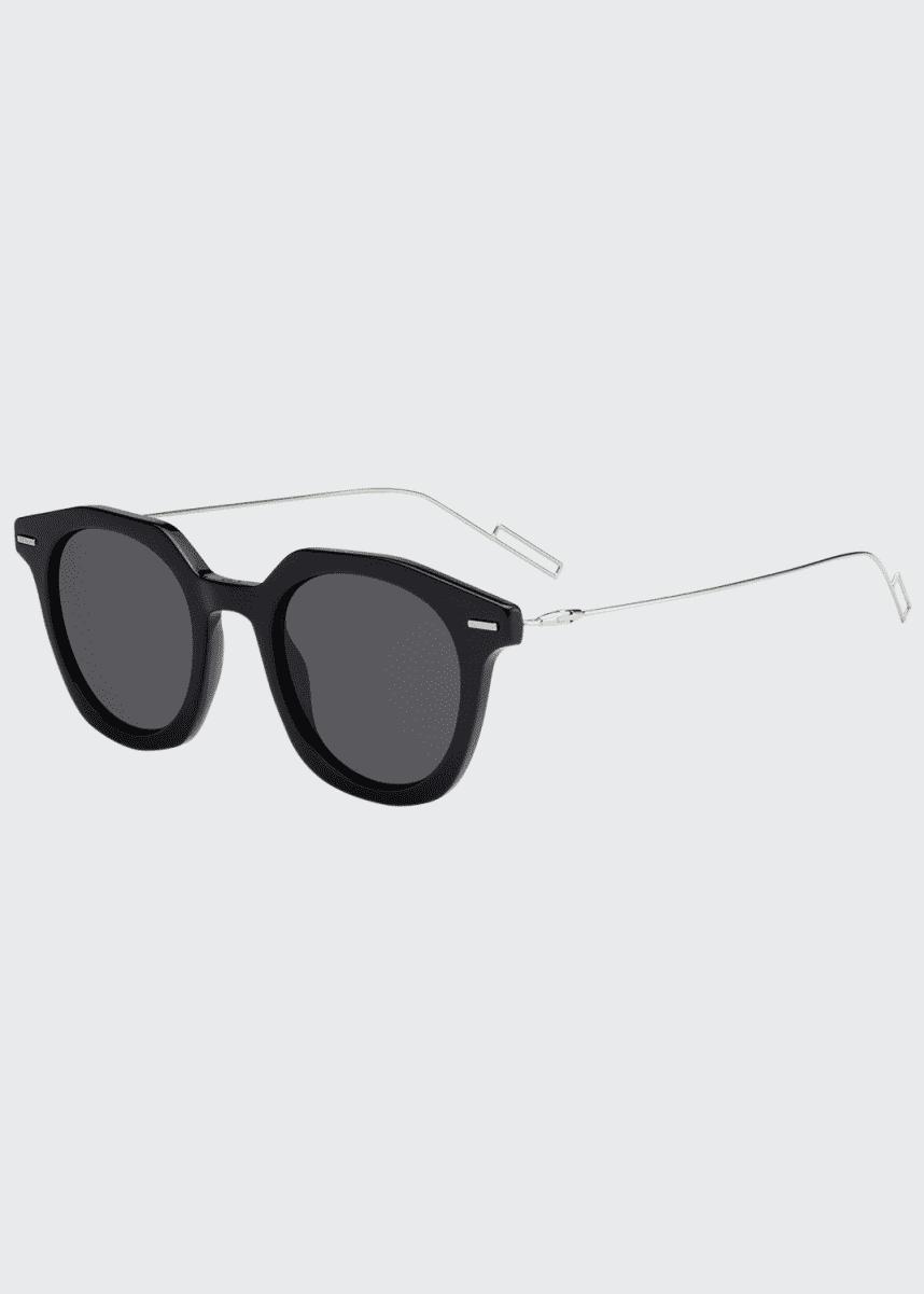 Dior Men's Diormaster Round Acetate/Metal Sunglasses