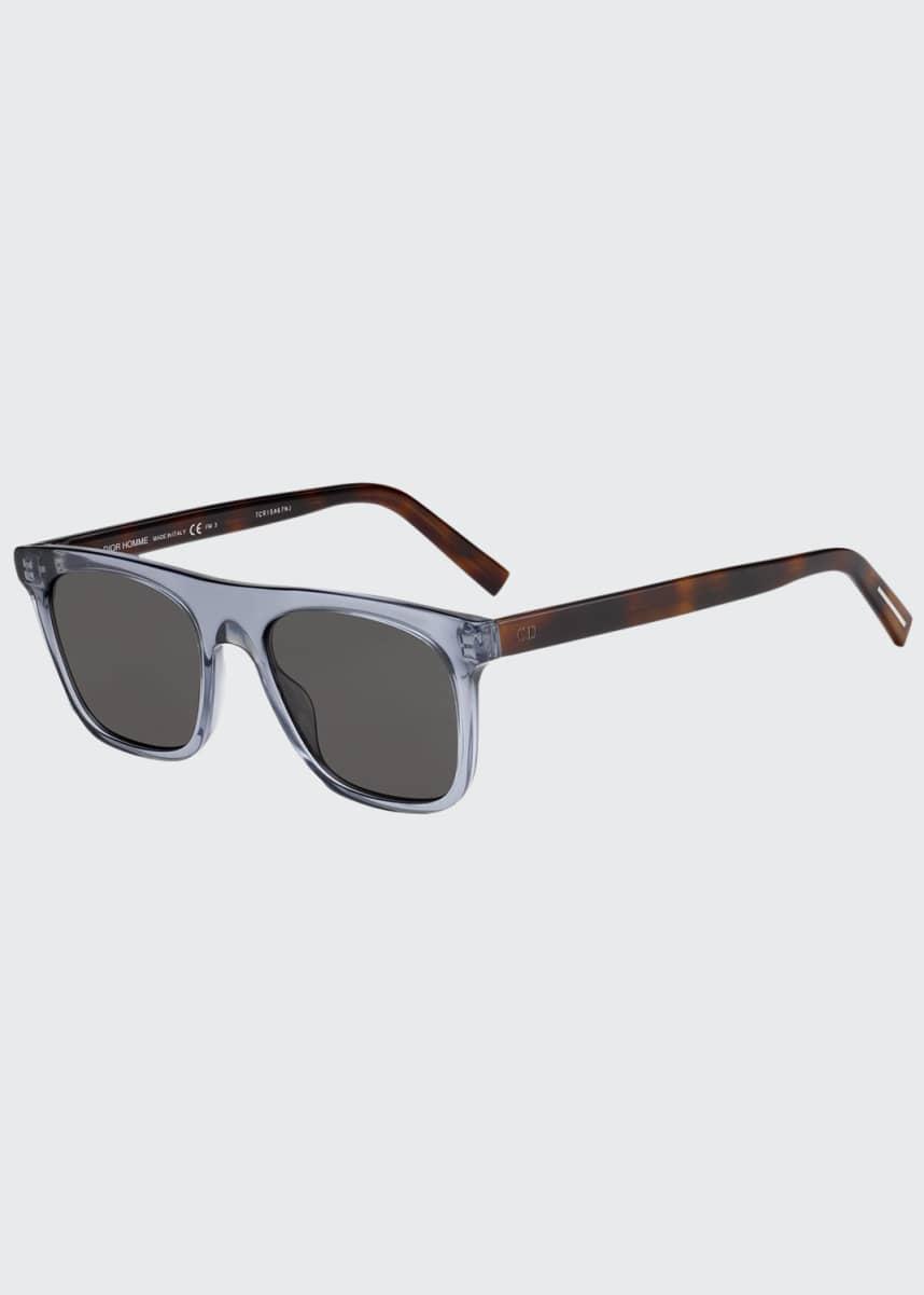 Dior Men's Walks Square Two-Tone Acetate Sunglasses