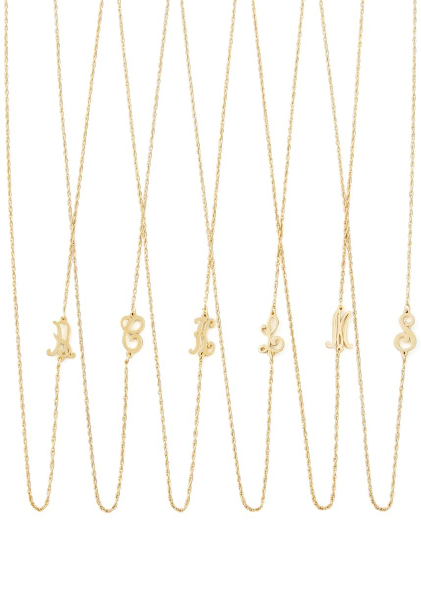Jennifer Zeuner 18k Gold Vermeil Mini Initial Necklace